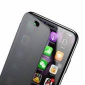 Baseus İphone X 360 Kılıf Kapak Flip Şeffaf Kapaklı Orijinal Touc