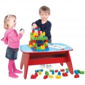 Mega Bloks Ahşap Büyük Bloklar Oyun Masası