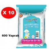 Freshn Soft Çocuklara Özel Islak Tuvalet Kağıdı 60 Lı 10 Paket (