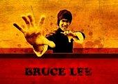 Bruce Lee Ahşap Eskitme Tablo Ev,cafe,ofis Dekoras...