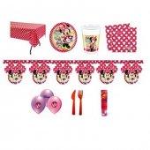 Minnie Mouse Temalı Fashion Doğumgünü Set 16 Kişilik