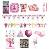 1 Yaş Temalı Kız Doğum Günü Parti Seti Süper