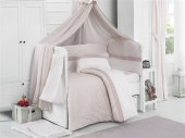 Kidboo Eva Cream 9 Parça Bebek Beşik Uyku Seti 80x140