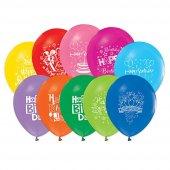 Iyiki Doğdun Yazılı Karışık Renkli 50 Adet Kaliteli Balon