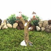 Bigpratic Teraryum Malzemeleri Ağaçta Baykuş