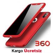 Iphone X 360 Derece Kılıf Full Koruma + Kırılmaz Camlı