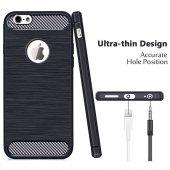Apple İphone 5 Silikon Karbon Fiber Kılıf