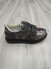 Punto Kız Çocuk Ayakkabı Rugan Platinum