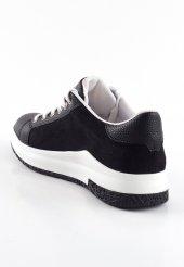 Rosa Siyah Yıldızlı Bayan Spor Ayakkabı