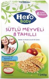 Hero Baby 240gr Sütlü Meyveli 8 Tahıllı