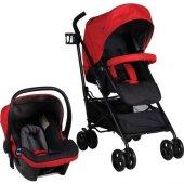 Prego 2076 Granada Travel Sistem Bebek Arabası Kırmızı