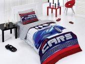 Belenay Tek Kişilik Uyku Seti Sports Cars Mavi