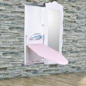 Doğrular Perilla Boy Aynalı Ütü Masası Beyaz