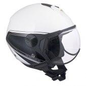Açık Motosiklet Kaskı Cgm 107g Rome Sagomato Beyaz Renk