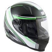 Kapalı Motosiklet Kaskı Cgm 305g Stoccarda Siyah Yeşil Renk