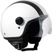 Açık Motosiklet Kaskı Cgm 109g Miami Beyaz Renk