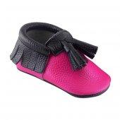 Corcik Makosen Bebek Ayakkabı Fuşya Siyah Cv 77