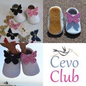 çıt Çıtlı Makosen Tabanlı Bebek Ayakkabı Beyaz Cv 313