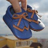 Navaho Makosen Tabanlı Bebek Ayakkabı Saks Cv 405