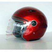 Kırmızı Kask Motosiklet Kaskı Freem Yarım Kask