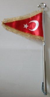Oto Bayrak Direği Türk Bayraklı Flama
