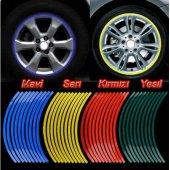 Jant Şerit Fosforlu Sticker Renk Seçenekli