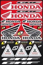 Honda Fullset Sticker 28cmx43cm Büyük Boy