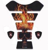 Tankpad Universal Burning Skull Xrace Tank Pad