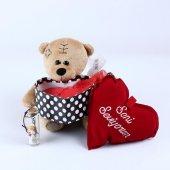 Sevgiliye Özel Kahverengi Ayıcıklı Romantik Aşk Kutusu