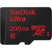 Sandisk 200gb Ultra Android Microsdxc + Sd Adapter 48mb S Class 1