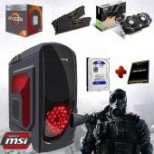 Ryzen5 2400g 16gb Ram 120gb Ssd 1tb Hdd Msı Gtx 1060 6gb Ekran Kartı Masaüstü Oyun Bilgisayarı