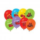 Cars Arabalar Bask L Lisansl 50 Adet Balon