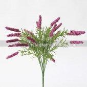 Tüylü Aradal Yapay Çiçek 42 Cm Lila