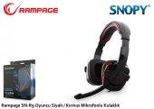 Snopy Rampage Sn R9 Oyuncu Siyah Kırmızı Mikrofonlu Kulaklık
