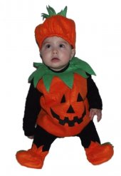 Bebek Bal Kabağı Kostümü Tam Takım