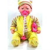 Emre Toys Gerçek Yüzlü Mimikli Pıtırcık Bebek Sarı Elbiseli