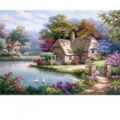 Kuğular Ve Kır Evi The Swan Cottage Anatolian 1500 Parça Puzzle