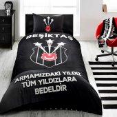 Taç Lisanslı Tek Kişilik Nevresim Takımı Beşiktaş Şampiyon 3 Yıld