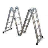 Saraylı 4x4 Alüminyum Akrobat Merdiven (4x4 122x4 488 Cm)