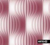 Crown 4416 02 Dalga Desenli 3 Boyutlu Pembe Duvar Kağıdı