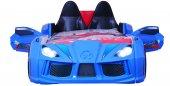 Farinay Audi V7 Mavi Kapılı Far Işıklı Ve Uzaktan Kumandayla Ses Efektli Karyola