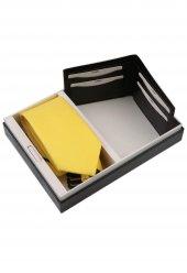 Sarı Kravat Mendil Cüzdan Erkek Hediye Seti Kmc43