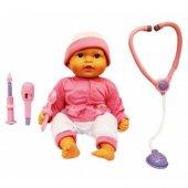 Ateşlenen Bebek Oyuncak Bebek Eğitici Doktor Setli Ateşlenen Bebe