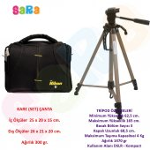 Nikon Dslr Fotoğraf Makinesi İçin 165cm Tripod + Set Çanta