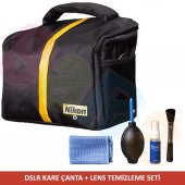Nikon Omuz Çantası + Temizleme Seti D810 D800 D610...