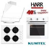 Kumtel Beyaz Turbolu Cam Ankastre Set A+ Harr Teknolojili 2018