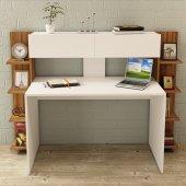Kalender Dekor Siena Çalışma Masası Ceviz Beyaz