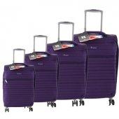 ıt Luggage 2148 4lü Kumaş Valiz Seti Mor