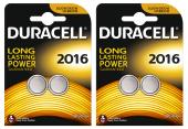 Duracell Düğme Lityum Pil 2016 2li 2 Paket (4 Adet)