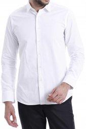 Düz Beyaz Slimfit Gömlek